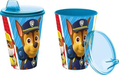 vaso con tapa patrulla canina