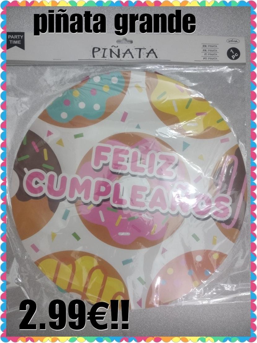 piñata grande feliz cumpleaños