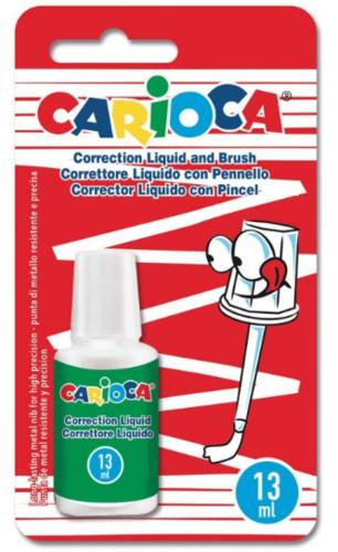 corrector liquido con pincel carioca