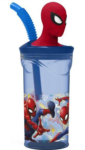 vaso caña spiderman