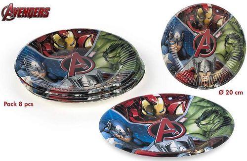 platos fiesta vengadores/avengers