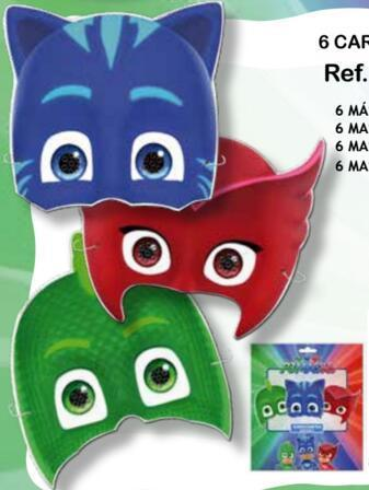 caretas fiesta pj masks