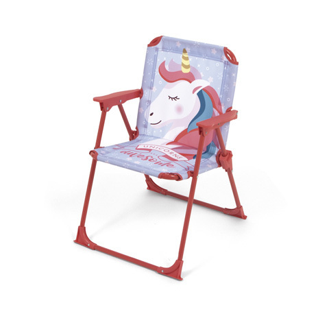 silla plegable unicornio