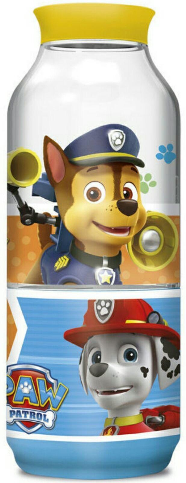 botella con compartimento snack patrulla canina