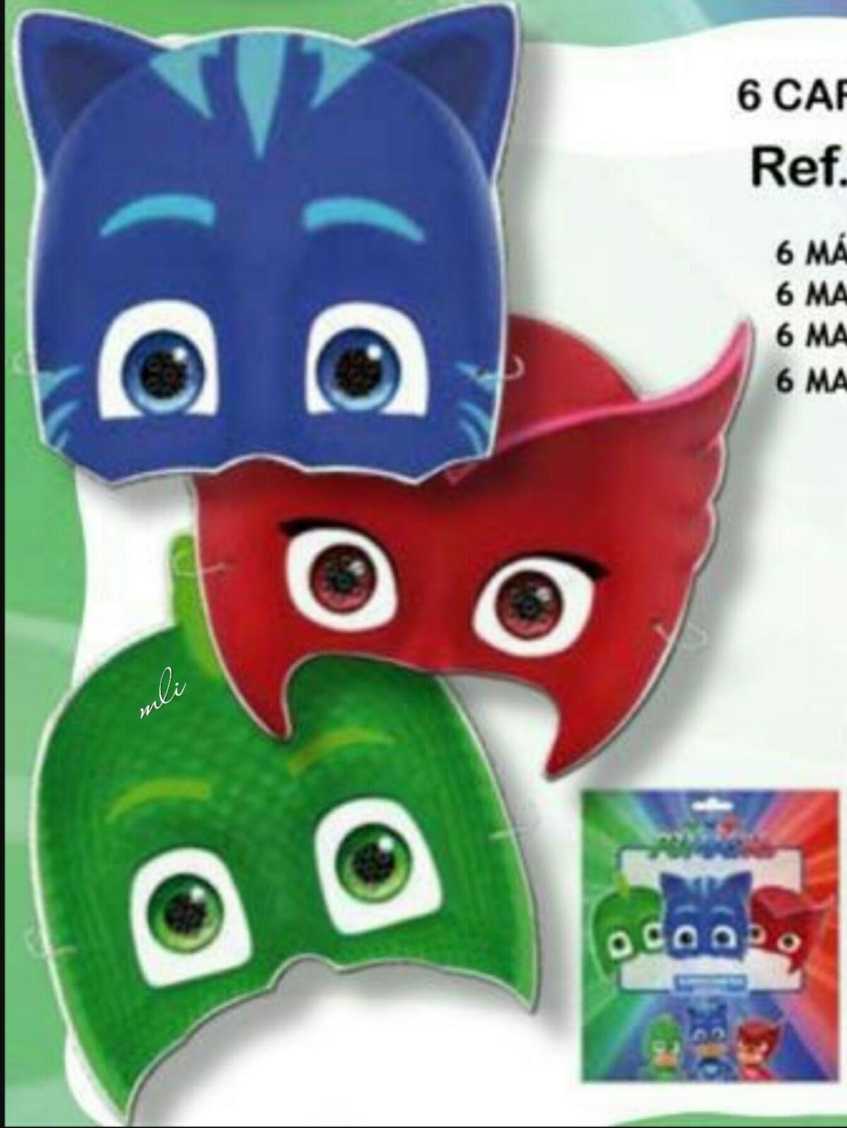 caretas fiesta PJ masks