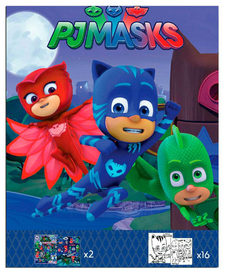 cuaderno de colorear pj masks