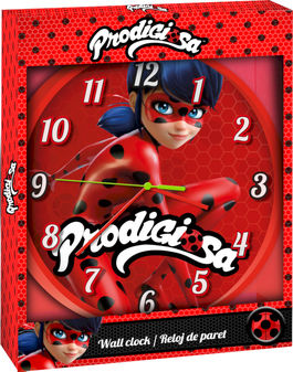 reloj pared ladybug