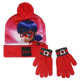 conjunto gorro +guantes ladybug