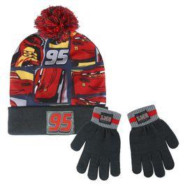 conjunto gorro +guantes cars