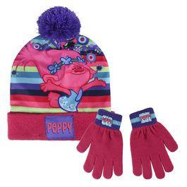 conjunto gorro+guantes poppy trolls