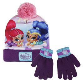 conjunto gorro +guantes shimmer and shine