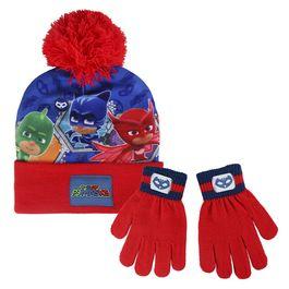 conjunto gorro +guantes pj masks